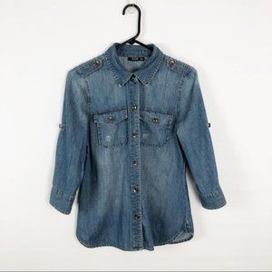 a.n.a I Vintage Button-Up Demin Shirt Size Small